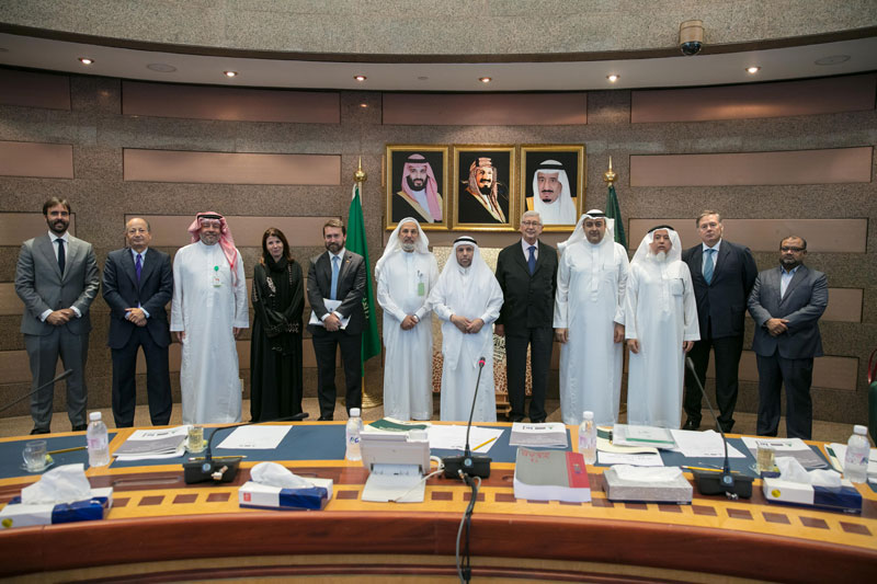 The Saudi-Spanish Center's 7th meeting of the BoD chaired by HE the Director of IE Universit, in the presence of HE the Director of KAU Prof. Dr. Abdul Rahman Al-Youbi was held on 18/1/1439H